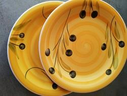 2 db olasz kerámia tányér