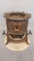 Viktoriánus korabeli petróleum olajos, edény melegítő, tűzhely