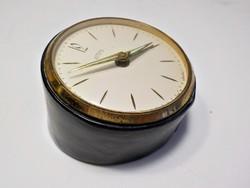 Art deco Emes német bőrtokos asztali óra , csörgő óra