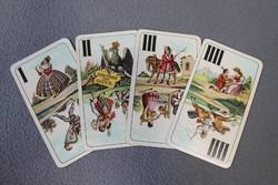 Antik kártyapakli, Piatnik Nándor és fiai védjegyes kártya, 53+1 lapos