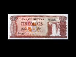 UNC - 10 DOLLÁR - GUYANA - 1992 (Old Money)