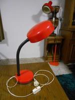 Műhelylámpa asztali lámpa ipari jellegű retro piros 60 cm