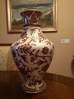 Igazi különlegesség! Szabó Kinga tervezte egyedi Zsolnay váza, gyönyörű motívumokkal, hibátlan
