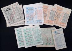 Megjátszott lottószelvények a 80-as évekből