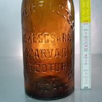 """""""Schreyer József Békéscsaba, Szarvas, Mezőtúr, Kisújszállás 0.55L."""" sörösüveg (630)"""