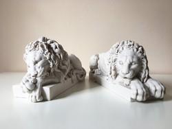 Canova Oroszlánok - páros szobor (Fehér Márvány) Oroszlán Szobor