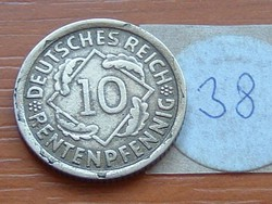 NÉMET BIRODALOM 10 PFENNIG RENTENPFENNIG 1923 D 38.
