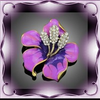Aranyozott swarovski gyöngy bross KIT40