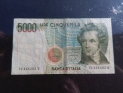 5000 Lire 1985