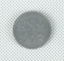 0W152 Kőbányai Sör és Malátagyár zsetonja KSM SÖR