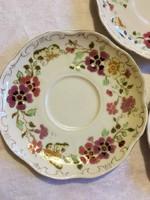 3 db Zsolnay pillangós teás csésze alj alátét tányér