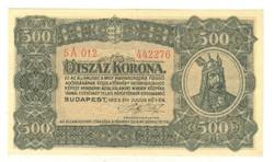 500 korona 1923 Nyomdahely nélkül