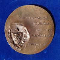 Mladonyiczki Béla: Posta bronz plakett 1979