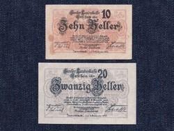 2 db osztrák szükségpénz 1920 (id7408)