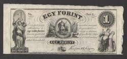 """1 forint 1852. """"E"""".  RITKA!!  UNC!!"""