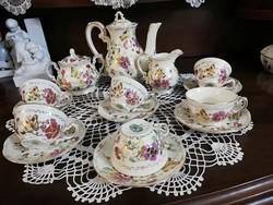 Zsolnay pillangós kávés készlet