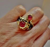 Szép valódi rubinköves ezüstgyűrű