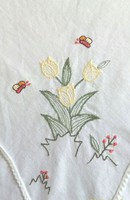 Tavaszi virágcsokros, pamut asztalterítő, 78 x 77 cm