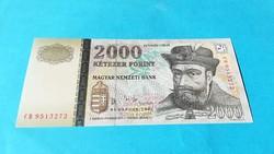 Extra szép + 2000 Forint 2005 CB Enyhe hajlítással.