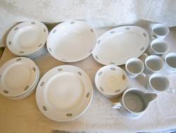 Nagyon régi Apulum porcelán virág mintás étkészlet és teás készlet hiányos