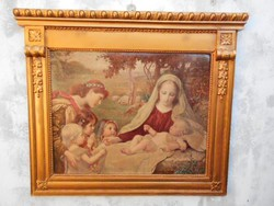 19th century beautiful wooden frame with 1905 stone prints.München gallery.