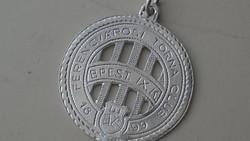Ezüst Ferencvárosi Torna Club medál 925
