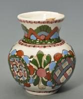 Hódmezővásárhelyi majolika váza, HMV Csenki ( Czvalinga ).