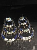 Antik perzsa zománcozott ezüst /?/ fülbevaló