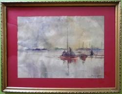 Gebhardt Béla: Balatoni kikötő