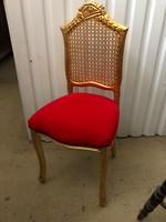 Rokokó Arany piros huzatos kis szék