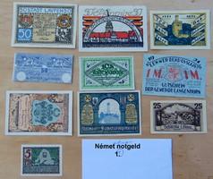 Német birodalom szükségpénz 10 fajta 1920-as évek 1 tétel hajtatlan 2800.-Ft