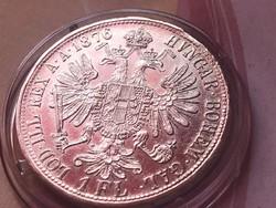 1876 ezüst 1 florin,verdefényes aUNC darab kapszulában,így ritka!!