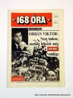1993 november 9  /  168 ÓRA  /  Régi ÚJSÁGOK KÉPREGÉNYEK MAGAZINOK Szs.:  9807