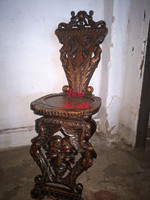 Nagyon régi,antik sgabello Olasz reneszánsz szék!