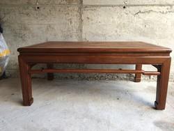 Antik tradicionális kínai dohányzóasztal, teaasztal, asztal, japán, keleti