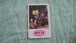 Kártyanaptár méh 1978