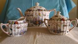 W & E Corn angol porcelán teás szett
