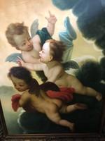 Angyal kompozíció olaj vászon festmény