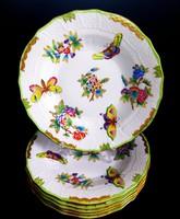 Herendi Viktória mintás 6 db süteményes tányér