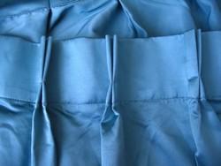 Vastag, nehéz, türkiz, selyem sötétítő függöny