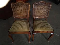 Chippendél barok ratántámlás szék 3 darab