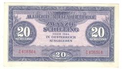 20 schilling 1944 Ausztria katonai aUNC