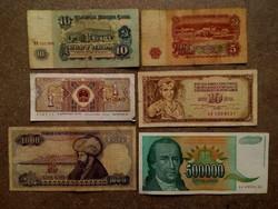 6 db külföldi vegyes bankjegy/id 7744/