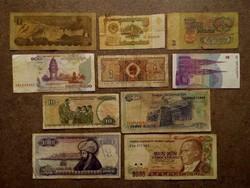 10 db külföldi vegyes bankjegy/id 7730/