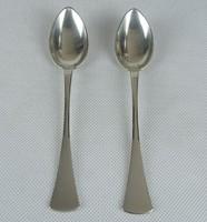 0W333 Régi ezüst kávéskanál mokkáskanál pár 43 g