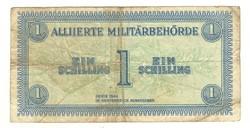 1 schilling 1944 Ausztria katonai