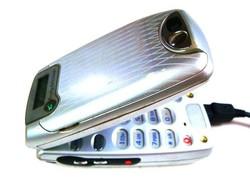 Múlt századi ezüst Sony Ericsson Z600 Made in France