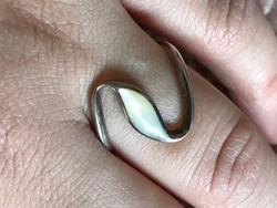 Csodálatos ezüst gyűrű 18mm belső átmérő