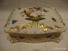 Herendi porcelán bonbonier , doboz tetővel