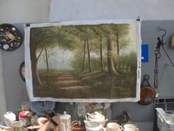 Festmény, keret nélkül